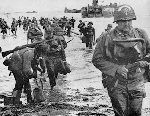 "Quartermaster soldiers ""hit the beach' on June 6, 1944"