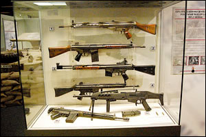 Captured Enemy Guns from WWII and Vietnam War
