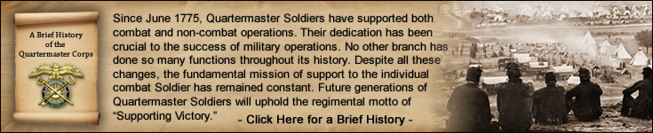 A Brief History of the Quartermaster Corps