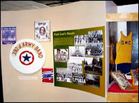 The Band Section of the Fort Lee Exhibit.