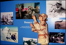 Desert Storm Display Within Supporting Victory Exhibit.